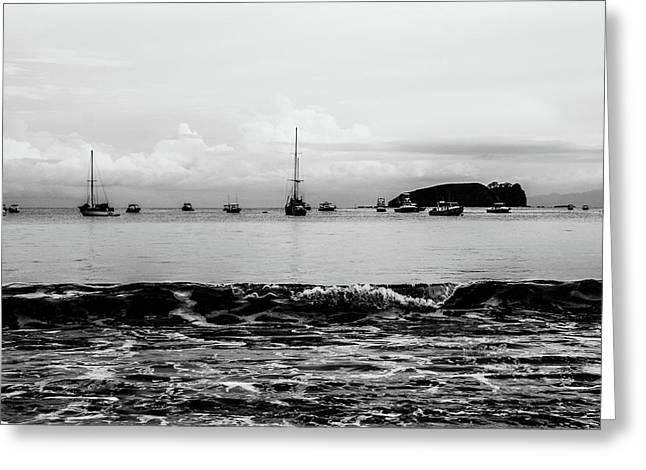 Boats And Waves 2 Greeting Card