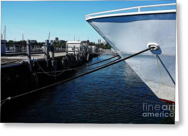 Boats At An Empty Dock 5 Greeting Card by Nishanth Gopinathan