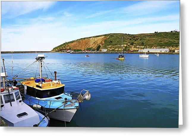 Greeting Card featuring the photograph Boats At Friendly Bay by Nareeta Martin