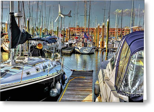 Boats At Kemah Greeting Card