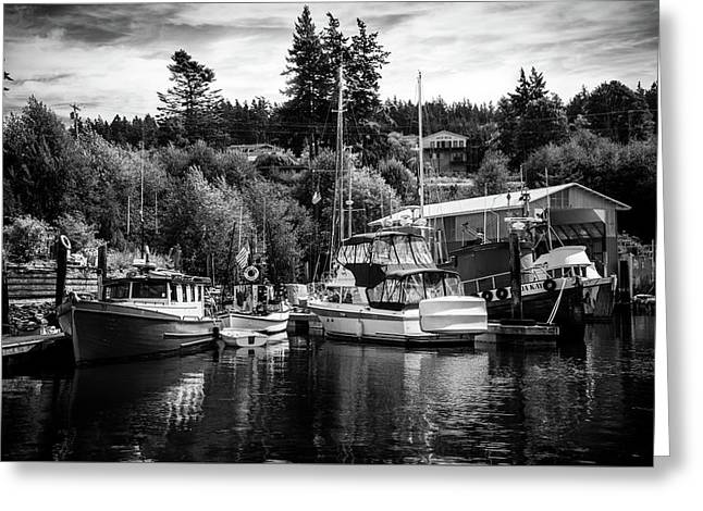 Boats At Lovric's Sea Craft, Washington Greeting Card by TL Mair