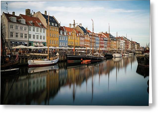 Boats At Nyhavn In Copenhagen Greeting Card