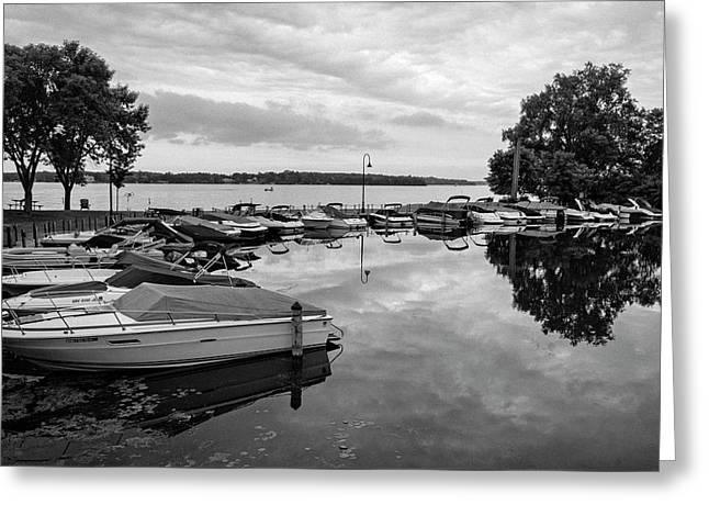 Boats At Wayzata Greeting Card