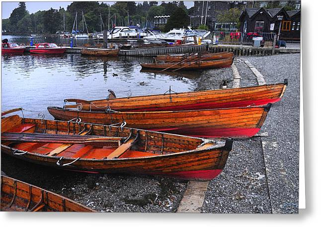 Boats At Windermere Greeting Card