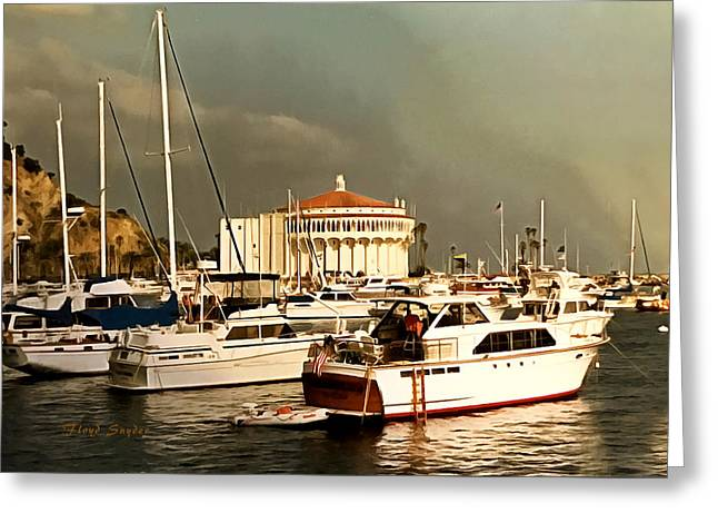 Greeting Card featuring the photograph Boats Catalina Island California by Floyd Snyder