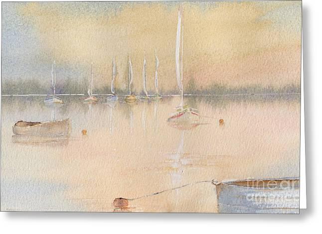 Boats In A Marina 2. Greeting Card by Kim Hamilton