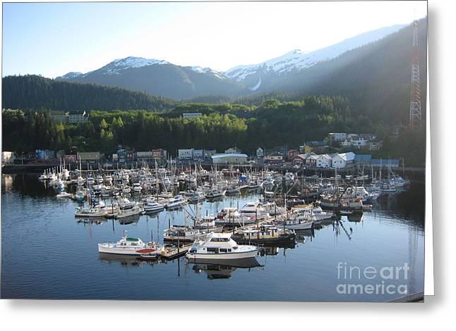 Boats In Alaska Greeting Card