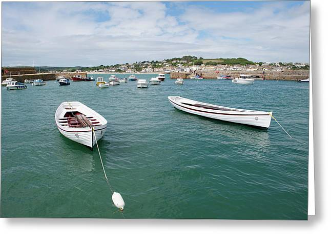 Boats In Habour Greeting Card