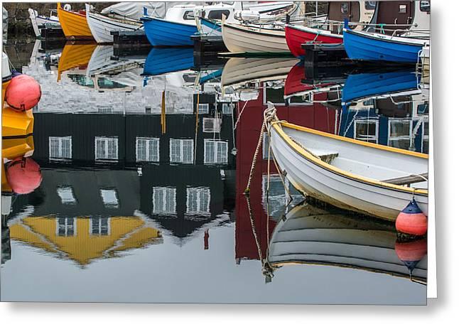 Boats In Marina, Torshavn, Faroe Islands_2 Greeting Card by Judith Barath