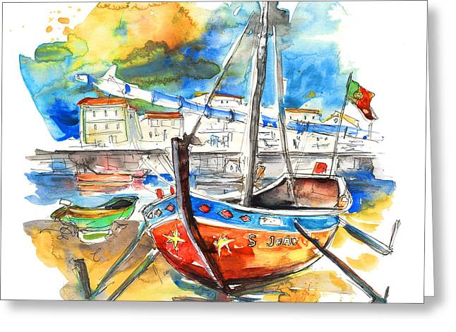 Boats In Tavira In Portugal 02 Greeting Card by Miki De Goodaboom