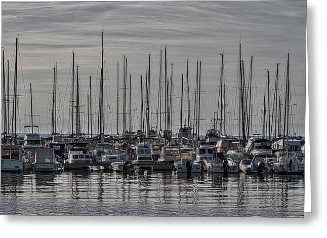 Greeting Card featuring the photograph Boats In The Izola Marina - Slovenia by Stuart Litoff