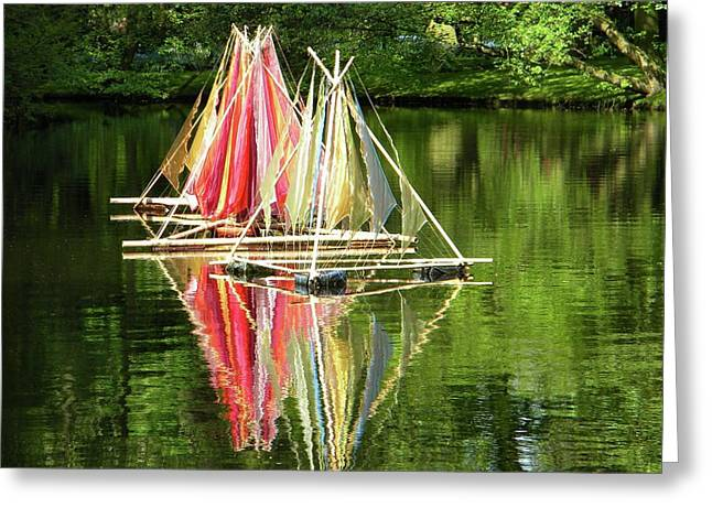 Greeting Card featuring the photograph Boats Landscape by Manuela Constantin