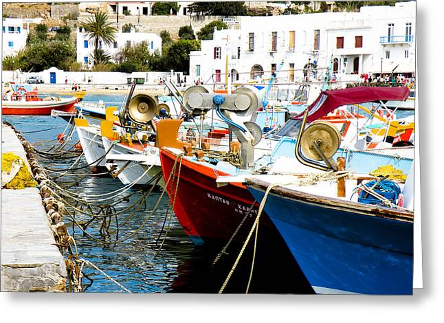 Boats On Parthos Greeting Card