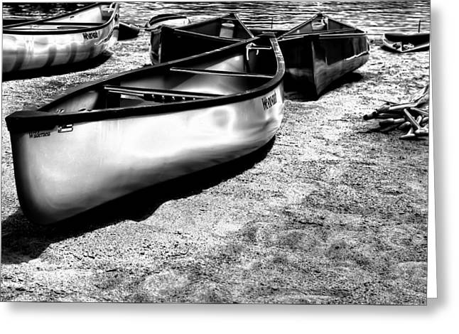 Boats On The Sand Greeting Card by David Patterson