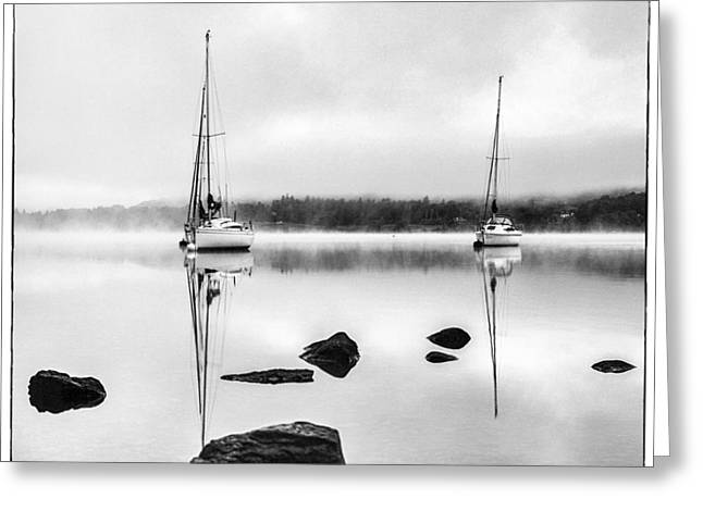 Boats On Ullswater In The Lake District Greeting Card