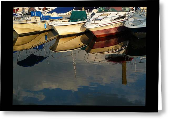 Greeting Card featuring the photograph Boats Reflected by Margie Avellino