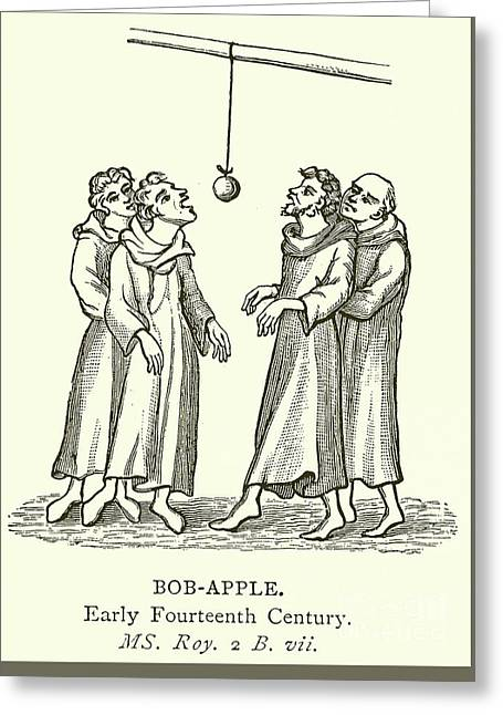 Bob Apple Greeting Card by English School