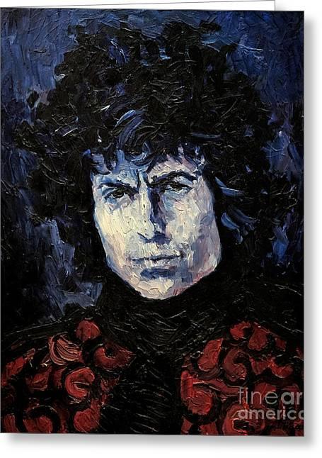Bob Dylan 1967 Greeting Card by Lutz Baar