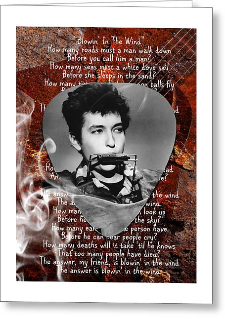 Bob Dylan Art Greeting Card