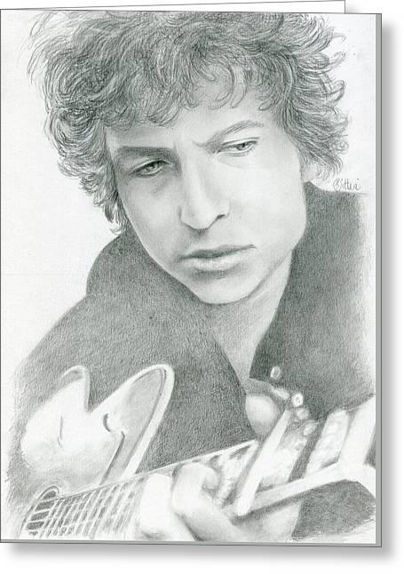 Bob Dylan Greeting Card by Bitten Kari