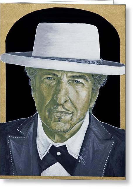 Bob Dylan Greeting Card by Jovana Kolic