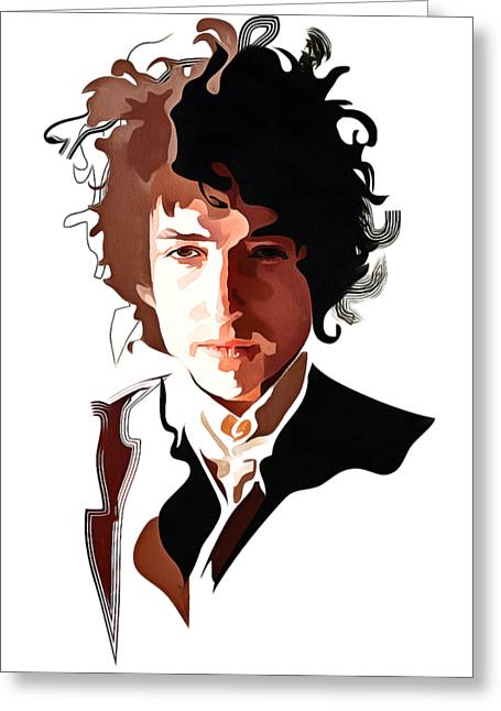 Bob Dylan Music Icon Greeting Card