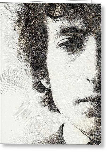 Bob Dylan Portrait 02 Greeting Card by Pablo Romero