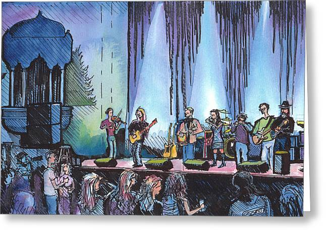 Bob Dylan Tribute Show Greeting Card by David Sockrider