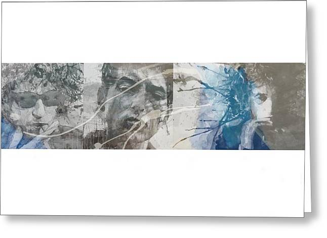 Bob Dylan Triptych Greeting Card