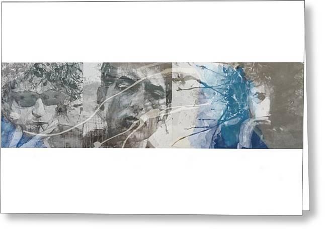 Bob Dylan Triptych Greeting Card