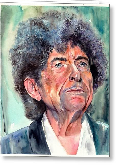 Bob Dylan Watercolor Portrait  Greeting Card