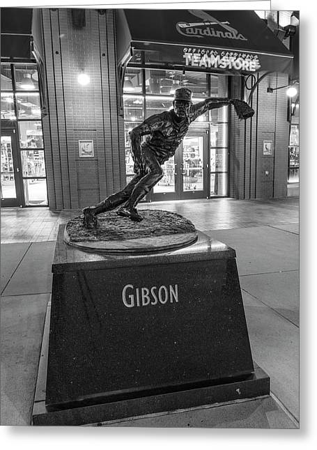 Bob Gibson Statue Busch Stadium Greeting Card