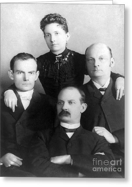 Bob, Henrietta, Cole And Jim Younger Greeting Card by Science Source
