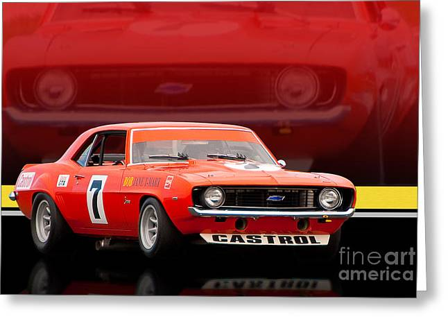 Bob Jane Camaro Greeting Card