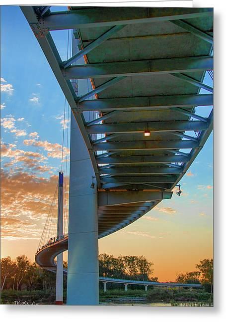 Bob Kerry Bridge At Sunrise-2 Greeting Card