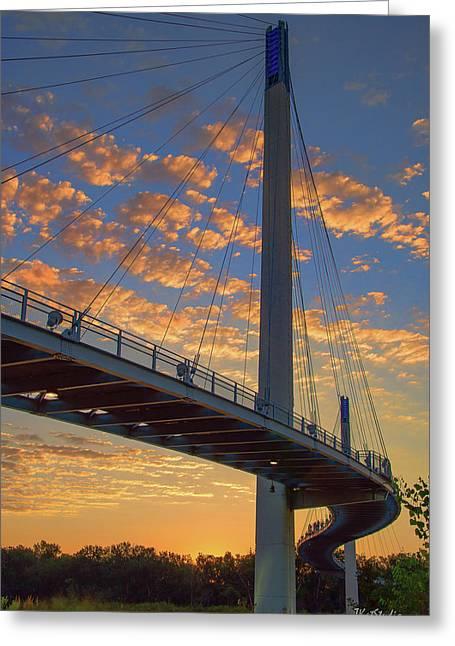 Bob Kerry Bridge At Sunrise Greeting Card