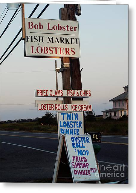 Bob Lobster Fish Market Greeting Card
