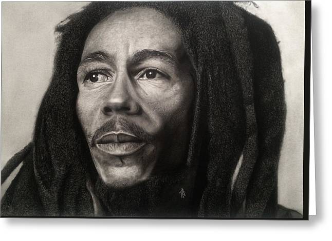 Bob Marley Drawing Greeting Card