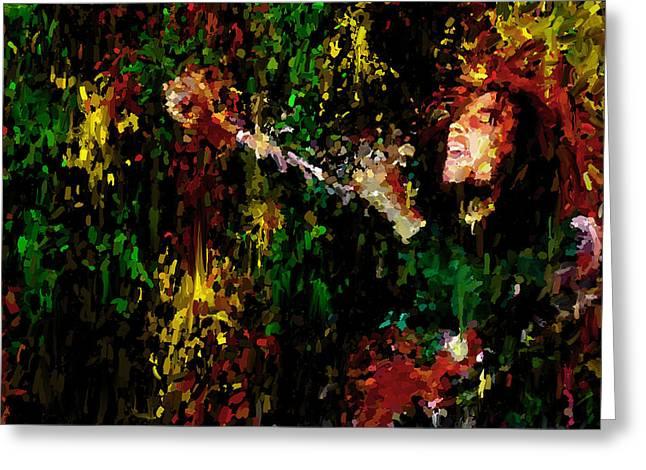 Bob Marley Painting Art Print Greeting Card