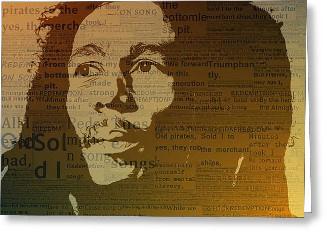 Bob Marley Redemption Song Greeting Card by Dan Sproul