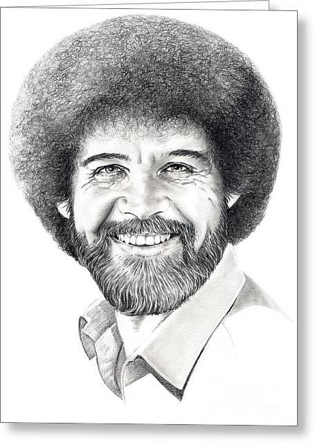 Bob Ross Greeting Card by Murphy Elliott