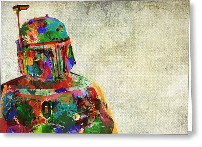 Boba Fett In Colour Greeting Card