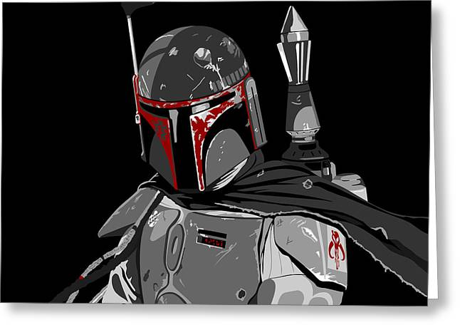 Boba Fett Star Wars Pop Art Greeting Card by Paul Dunkel