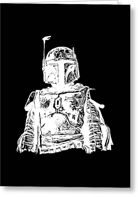 Boba Fett Tee Greeting Card by Edward Fielding