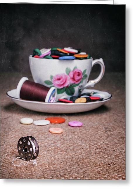 Bobbin And Buttons Greeting Card