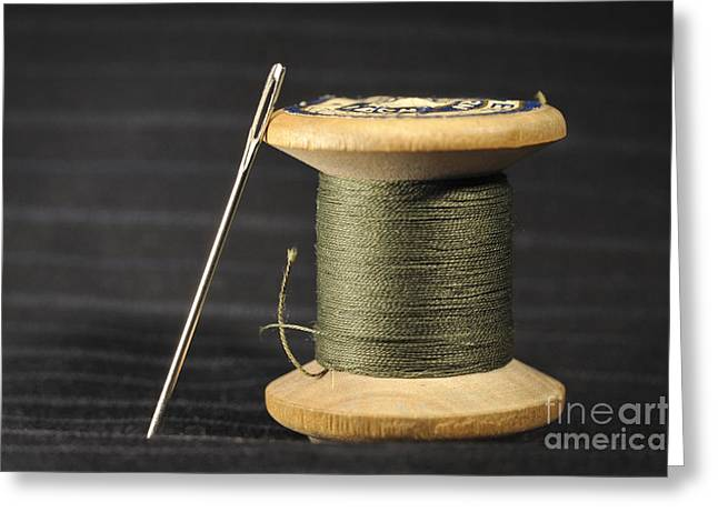 Bobbin And Needle Greeting Card by Torsten Becker