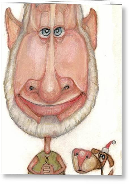 Bobblehead No 60 Greeting Card by Edward Ruth