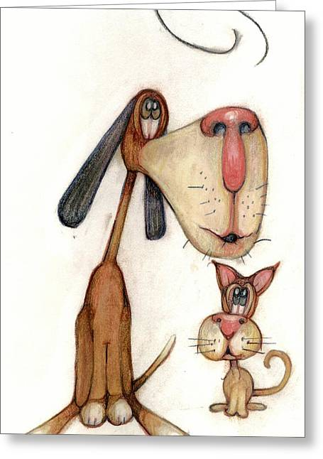 Bobblehead No 70 Greeting Card by Edward Ruth
