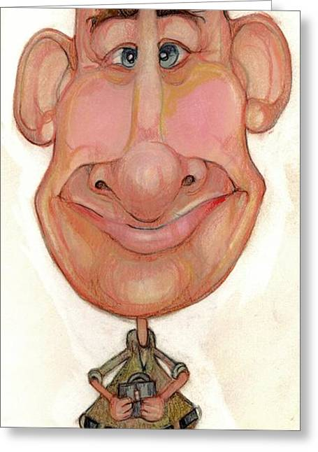 Bobblehead No 72 Greeting Card by Edward Ruth