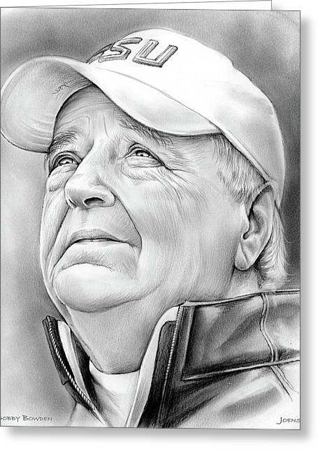 Bobby Bowden Greeting Card by Greg Joens
